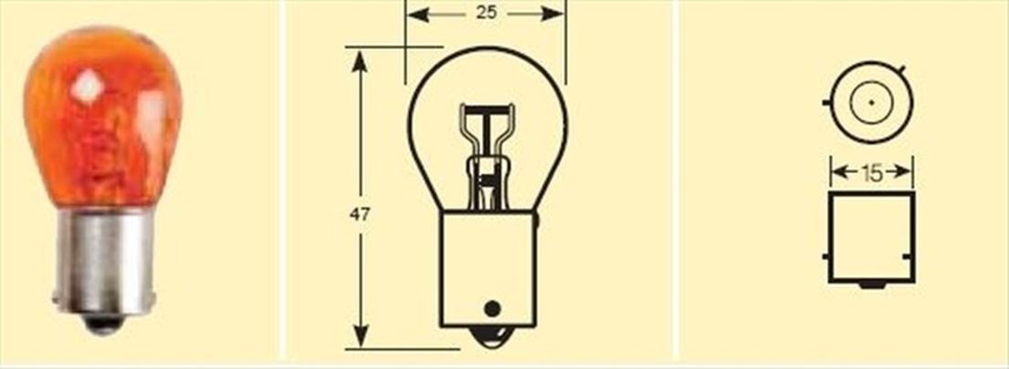 Rb581 bec 12v21w tip py21w galben ambalaj individual ring automotive pentru mg mgb