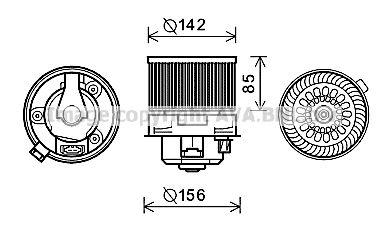 Electromotor ventilatie interioara pentru bmw seria 5 bmw x5
